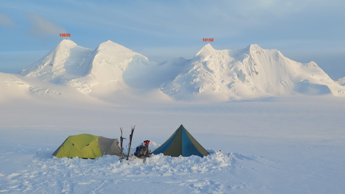 Chisana glacier camp at ~8250′ (pc Taylor Brown)