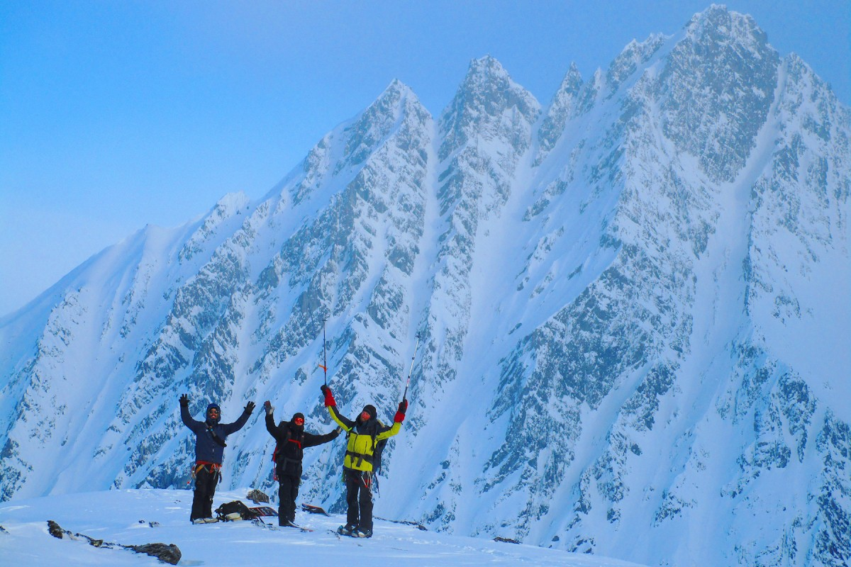 Little Pyramid ski camp near Valdez, in the Chugach