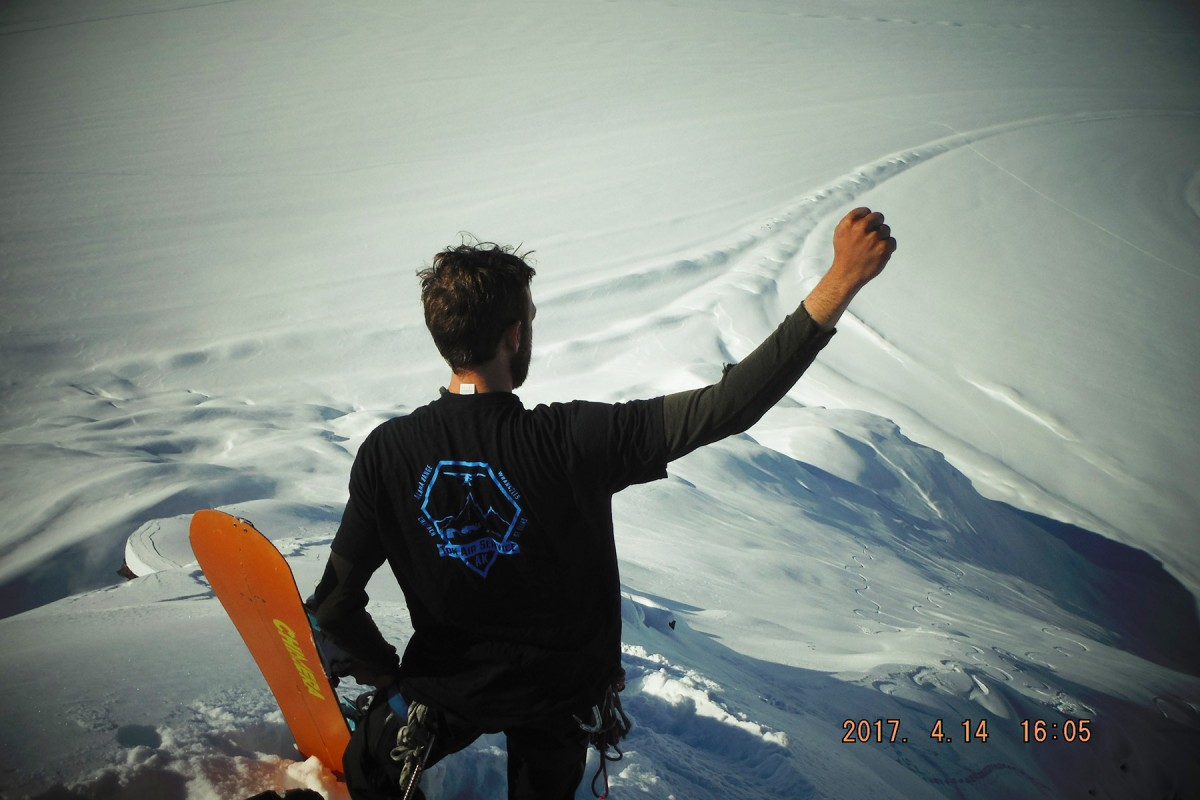 Fist bump the gnar out at Here He Comes near Valdez.